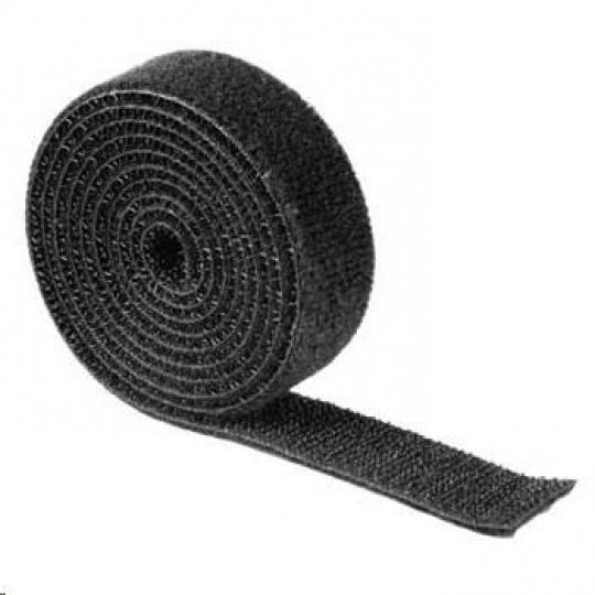 Hama univerzálna šťahovacia páska, suchý zips, 1m, čierna