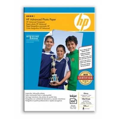 HP Advanced Glossy Photo Paper-100 sht/10 x 15 cm borderless,  250 g/m2, Q8692A
