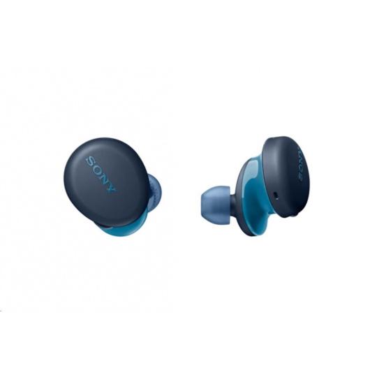SONY bezdrátová stereo sluchátka WF-XB700, modrá