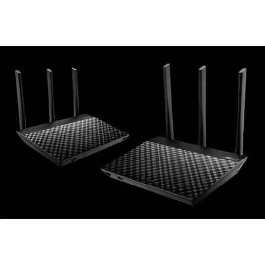 ASUS RT-AC67U (2-pack) Gigabit Dualband Wireless AC1900 Router, AiMesh Wi-Fi System