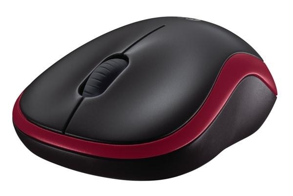 Logitech Wireless Mouse M185, red