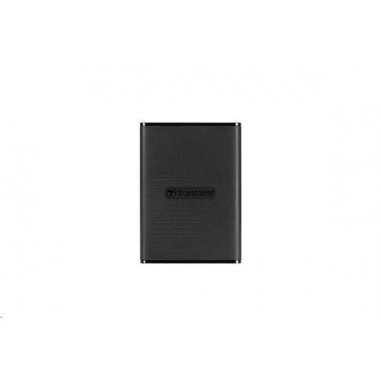 TRANSCEND externí SSD ESD270C 500GB, Portable, USB 3.1 Gen.2, Type C & A, two cables 520/460 MB/s, black/černá