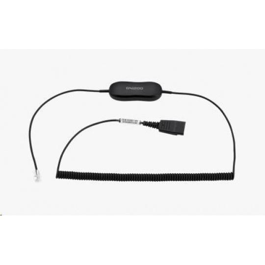Jabra kabel útlumový GN1218 AC, rovný, 2 m