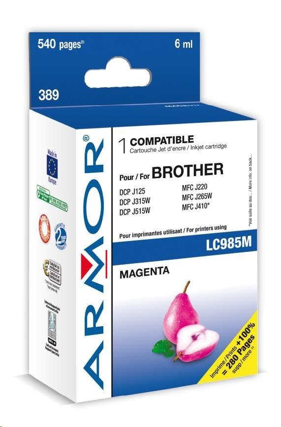 ARMOR cartridge pro BROTHER DCP-J125/515 Magenta  (LC985M)