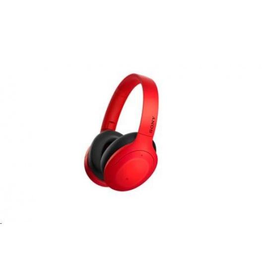 SONY bezdrátová stereo sluchátka WHH910N, červená