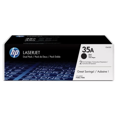 HP 35A Black 2-pack LJ Toner Cart, 2 x 1 500 str, CB435AD
