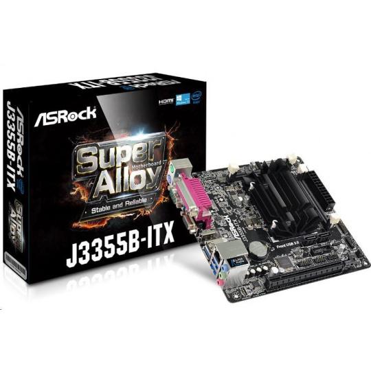 ASRock MB Int.procesor J3355B, 2xDDR3/DDR3L SODIMM , VGA, mini-ITX