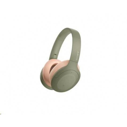 SONY bezdrátová stereo sluchátka WHH910N, zelená