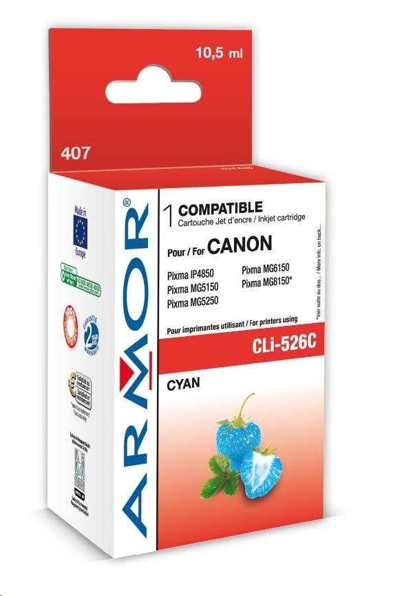 ARMOR cartridge pro CANON iP 4850 Cyan s čipem (CLI526C) 10,5ml