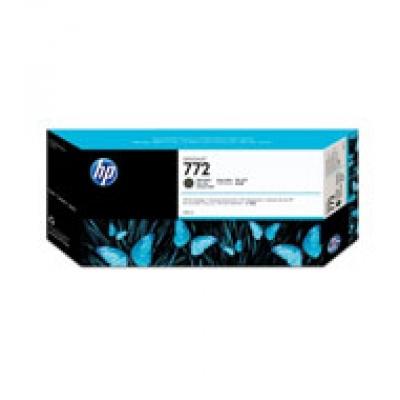HP 772 Black matte DJ Ink Cart, 300 ml, CN635A
