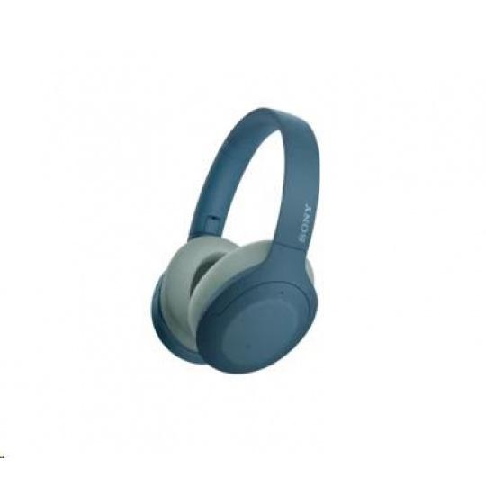 SONY bezdrátová stereo sluchátka WHH910N, modrá