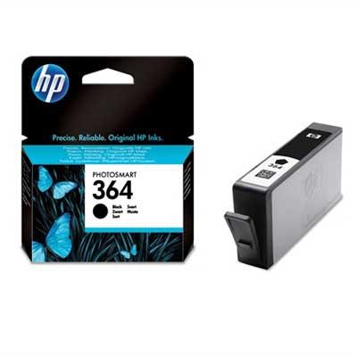 HP 364 Black Ink Cart, 6 ml, CB316EE