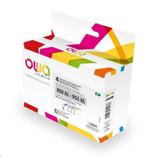 OWA Armor cartridge pro HP PACK 4 REMAN. 950-1XL, 75ml/3x30ml/2890p/3x2365p, CN045AE/CN046AE/CN047AE/CN048AE, black+CMY
