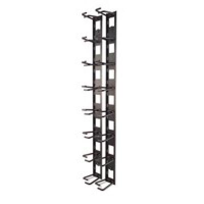APC Vertical Cable Organizer, 8 Cable Rings, Zero U (Qty. 2)