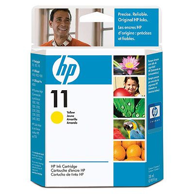 HP 11 Yellow Ink Cart, 28 ml, C4838A